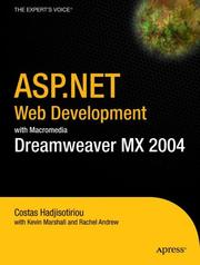 Cover of: ASP.NET Web Development with Macromedia Dreamweaver MX 2004