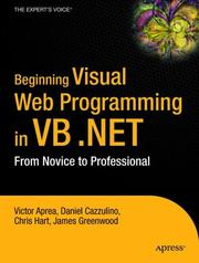 Cover of: Beginning Visual Web Programming in VB .NET