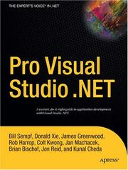 Cover of: Pro Visual Studio .NET (Expert's Voice)
