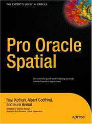 Cover of: Pro Oracle Spatial