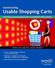 Cover of: Constructing Usable Shopping Carts