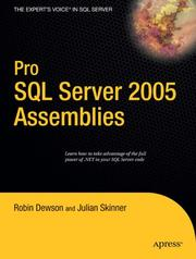 Cover of: Pro SQL Server 2005 Assemblies