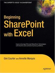 Cover of: Beginning SharePoint with Excel
