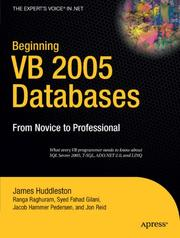 Cover of: Beginning VB 2005 Databases: From Novice to Professional (Beginning: From Novice to Professional)