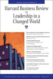 Cover of: Harvard Business Review on Leadership in a Changed World