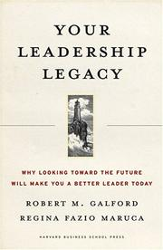 Cover of: Your Leadership Legacy
