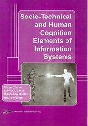 Cover of: Socio-technical and human cognition elements of information systems