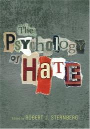Cover of: The Psychology Of Hate