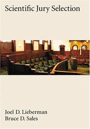 Cover of: Scientific Jury Selection (Law and Public Policy: Psychology and the Social Sciences)