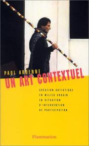 Cover of: Un art contextuel
