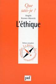 Cover of: L'Ethique