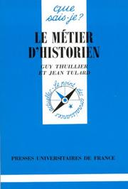 Cover of: Le métier d'historien