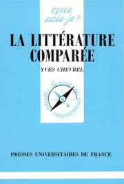 Cover of: La littérature Comparée