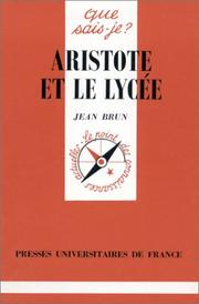 Cover of: Aristote et le Lycée