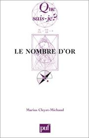 Cover of: Le Nombre d'or