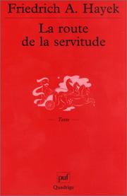 Cover of: La route de la servitude
