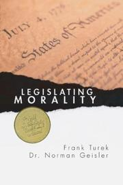 Cover of: Legislating Morality