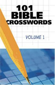 Cover of: 101 BIBLE CROSSWORDS VOL 1 (Bible Crosswords)