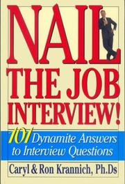 Cover of: Nail the Job Interview