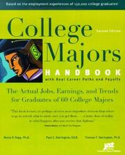 Cover of: College Majors Handbook with Real Career Paths and Payoffs