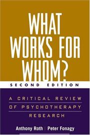 Cover of: What Works for Whom?, Second Edition