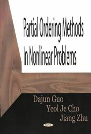 Cover of: Partial Ordering Methods In Nonlinear Problems