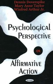 Cover of: Psychological perspective on affirmative action