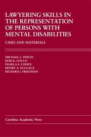 Cover of: Lawyering Skills in the Represenation of Persons With Mental Disabilities