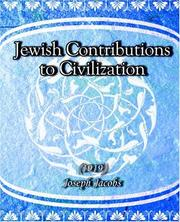 Cover of: Jewish Contributions to Civilization (1919)
