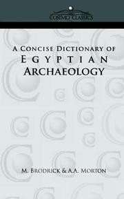 Cover of: A Concise Dictionary of Egyptian Archaeology