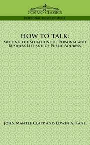 Cover of: How to Talk