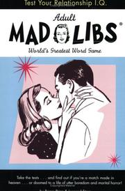 Cover of: Test Your Relationship I.Q. Mad Libs