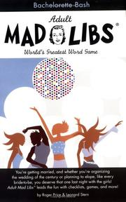 Cover of: Bachelorette Bash (Mad Libs)