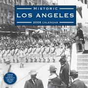 Cover of: Historic Los Angeles (2008) Calendar