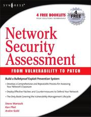 Cover of: Network security assessment