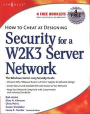 Cover of: How to Cheat at Designing Security for a Windows Server 2003 Network (How to Cheat) (How to Cheat)