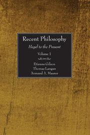 Cover of: Recent Philosophy, 2 Volumes: Hegel to the Present