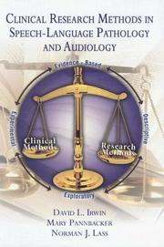 Cover of: Clinical Research Methods in Speech-language Pathology And Audiology