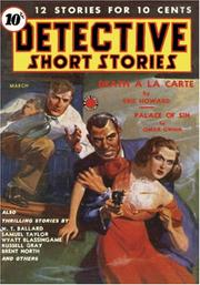 Cover of: Detective Short Stories - March 1939