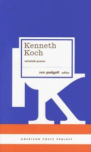 Cover of: Kenneth Koch