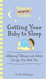 Cover of: Getting Your Baby to Sleep