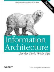 Cover of: Information Architecture for the World Wide Web (2nd Edition)