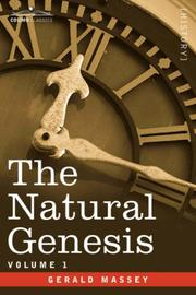 Cover of: The Natural Genesis - Vol.1