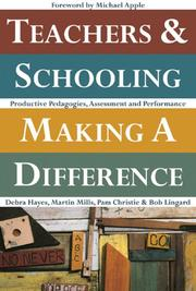 Cover of: Teachers and Schooling Making a Difference