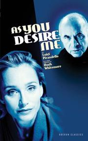 Cover of: As you desire me =