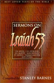 Cover of: Sermons on Isaiah 53 (Best Loved Texts of the Bible)