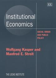 Cover of: Institutional Economics