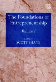 Cover of: The Foundations of Entrepreneurship