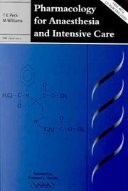 Cover of: Pharmacology for Anaesthesia and Intensive Care