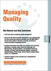 Cover of: Managing Quality (Express Exec)